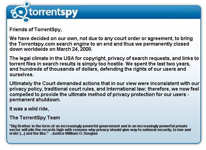 Exit Torrentspy