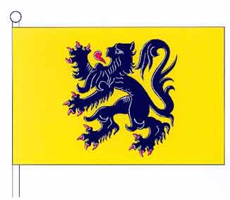 """""""geel met een zwarte leeuw, rood geklauwd en getongd"""""""